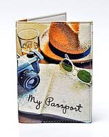 """Обложка для паспорта из эко-кожи """"Велосипед"""""""