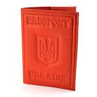 Обложка на паспорт с гербом №3 красная