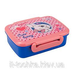 Бутербродница ланчбокс kite k17-160-1 cute bunny для девочки