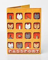 """Обложка для паспорта из эко-кожи """"Котята"""""""