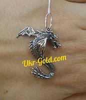 Серебряный подвес дракон