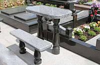 Столик и скамейка из гранита