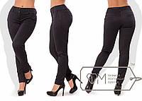 Модные женские брюки с узором батал / Украина / стрейч-шерсть