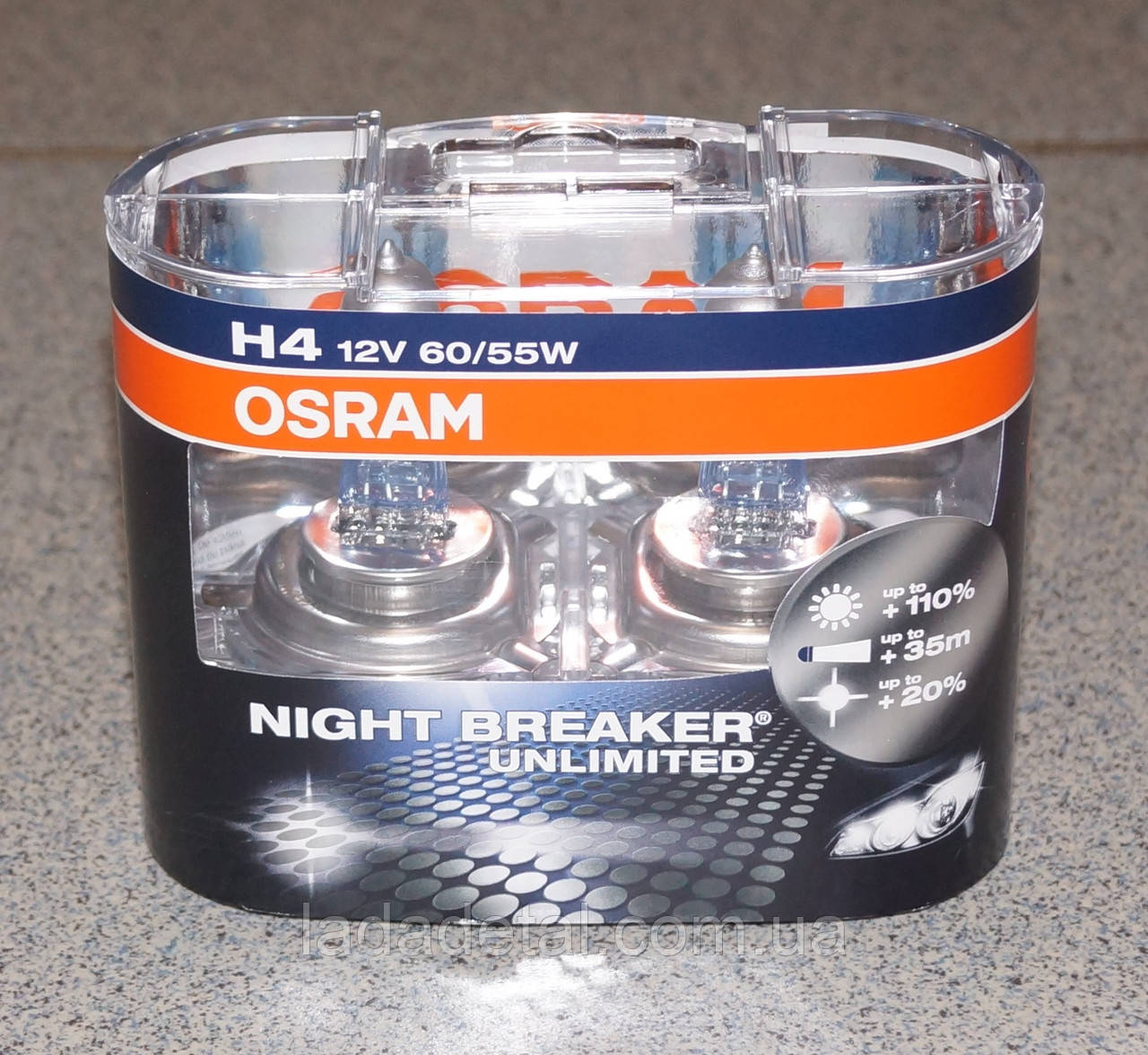 Лампы H4 Osram Night Breaker +110%  64193 NBU DUOBOX