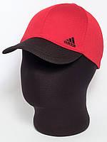 """Красная бейсболка спортивная с черным козырьком """"Adidas"""" лакоста шестиклинка"""
