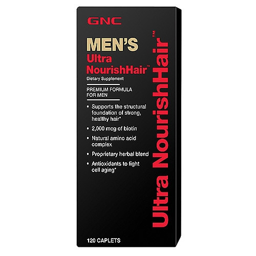 GNC ULTRA NOURISH HAIR MENS 120 caplets