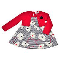Платье с красным болеро для малышки Wanex