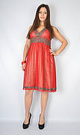 Платье вечернее с открытой спиной (красное), 44 размер
