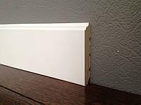 Плинтус белый деревянный Колониал 100 мм 10см