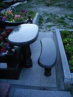Лавочка и стол из гранита