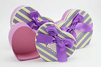 Картонная коробка - сердце, для небольшого подарка 2 размера