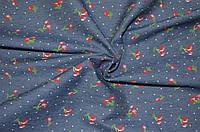 Ткань Джинс синий вишня
