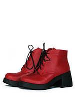Красные кожаные ботинки