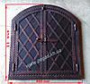 Дверка под коптилку металлическая арка №6 (600х670)