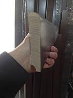 Плінтус дубовий масивний цілісний під лаком 80 мм, фото 1