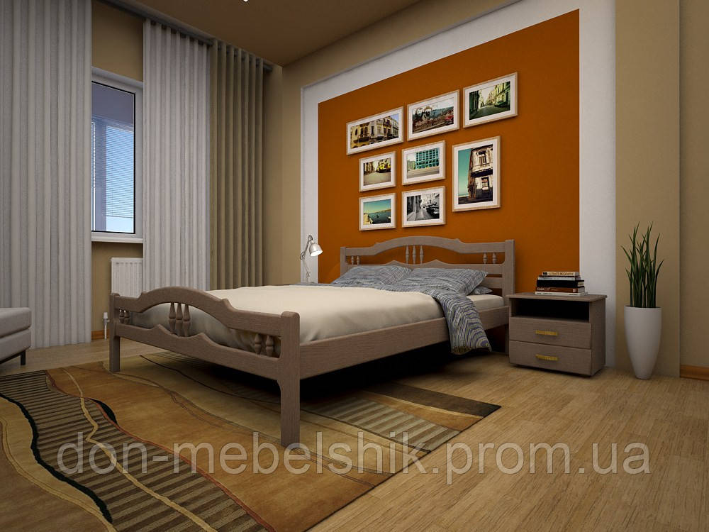 """Кровать """"Юлия 1"""" из натурального дерева"""