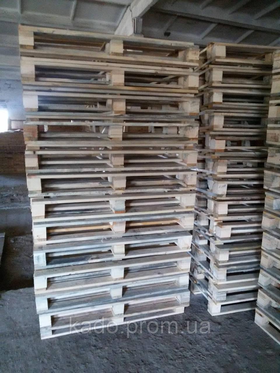Поддон (европоддон, европаллет) деревянный облегченный 3-й сорт 800х1200х145