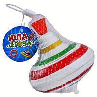 Юла M 0306 U/R, размер 14 см, музыка, свет, на батарейках, в сетке, красочная и увлекательная игрушка ребенку