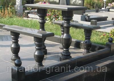 Гранитные стол и скамейки СЛВ - 109