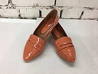 Женские туфли-лоуферы,натуральная кожа