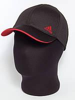 """Бейсболка спортивная """"Adidas"""" черная с красным подкозырьком лакоста шестиклинка"""