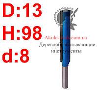 D13 H98 d8 прямая пазовая фреза Karnasch