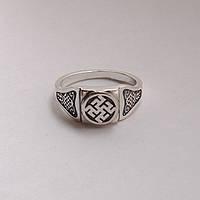 "Серебряное кольцо - перстень оберег ""Одолень Трава"""
