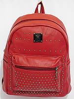 Рюкзак кож.зам. карманчик цвет красный, фото 1
