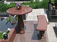 Столик и скамья
