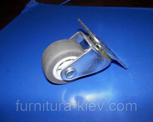 Ролик мебельный поворотный резина 52мм