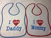 """Слюнявчик """"Я люблю маму"""""""