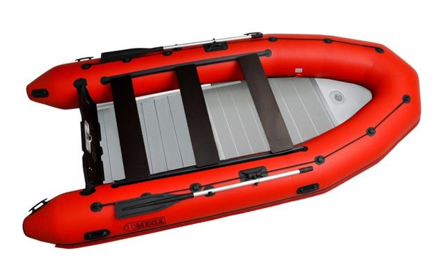 Човни пвх Омега 385 - човни з алюмінієвим пайолом -- човни алюмінієвим розбірним настилом