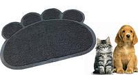 Мягкий коврик для домашних животных Paw Print Litter Mat (подстилка для питомцев Поу Принт Литл Мет)
