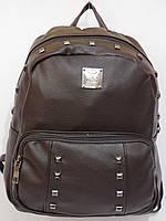Рюкзак логотип с шипами темный шоколад