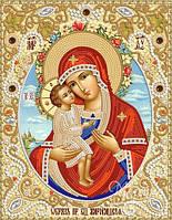 """Схема для вышивки бисером  """"Жировицкая икона Божией Матери"""""""