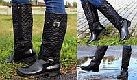 Резиновые сапоги женские черные на молнии ТОЛЬКО 36 размер