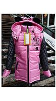 Детская весенняя куртка-жилетка на девочку Микки.