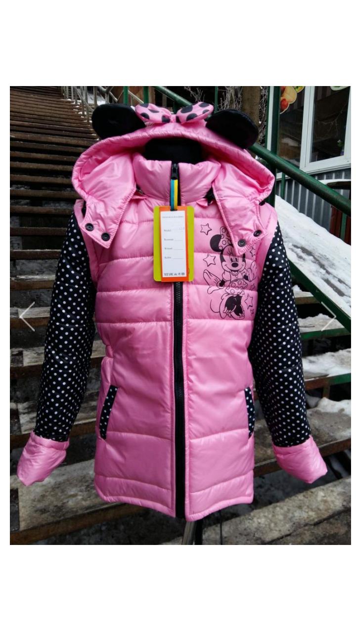 e3b1ba92e56c Детская весенняя куртка-жилетка на девочку Микки. - EVA LOOK в Хмельницком