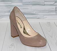 Туфли-лодочки.Устойчивый каблук.  Натуральная кожа. 0569