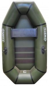 Надувная Лодка дельта ПВХ Омега 210 Хаки полуторка (Без слани)