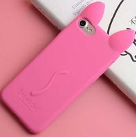 Розовый Чехол-кот с ушками и лапками для Iphone 6 6S, фото 1