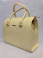 bf4b2b3cb38c Женская сумка саквояж Bars 988 каркасная длинный ремень внутри разделитель  на молнии размеры 32см х 27смх15см