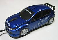 Мышка компьютерная проводная Subaru Impreza синяя