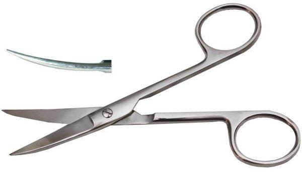 Ножницы операционные с двумя острыми концами, изогнутые, 140 мм., фото 2