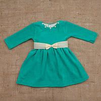 Платье Бусинка ментолового цвета 68, 74, 80,86