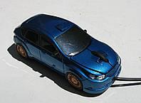 Мышка компьютерная проводная Subaru Impreza голубая