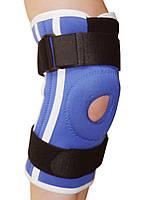 Бандаж коленного сустава неопреновый со спиральными ребрами жесткости Алком 4052
