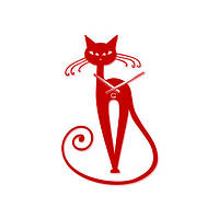 Часы На Стену (56см х 33см) Elegant Красные [Акрил, Открытые]
