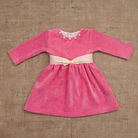 Платье Бусинка розового цвета 74, 80, 86