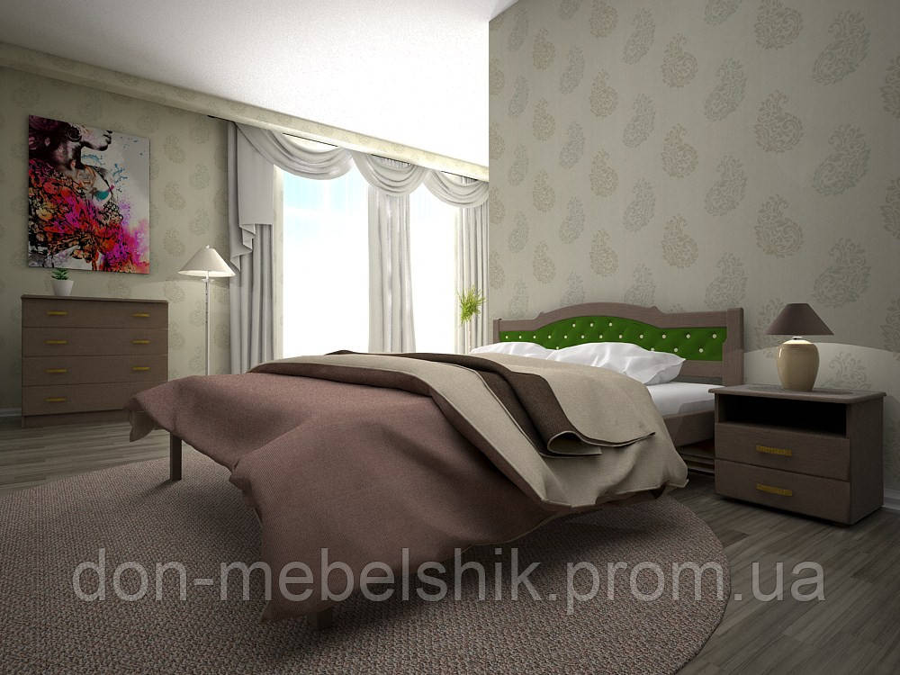 """Кровать """"Юлия 2"""" из натурального дерева"""